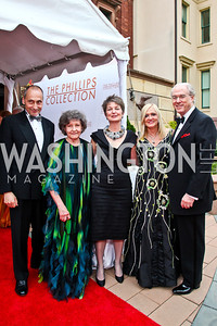 Thomas Krähenbühl, Clarice Smith, Dorothy Kosinski, Trish and George Vradenburg. 2012 Phillips Collection Gala. Photo by Tony Powell. May 4, 2012