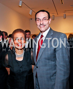 Eleanor Holmes Norton, Mayor Vincent Gray. 2012 Phillips Collection Gala. Photo by Tony Powell. May 4, 2012