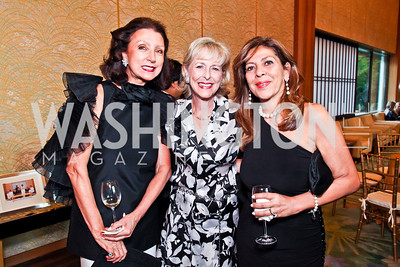 Aniko Gaal Schott, Lynda Webster, Shahdan Gabr. 2012 Points of Light Tribute Awards. Photo by Tony Powell. The Residence of the Ambassador of Japan. September 7, 2012