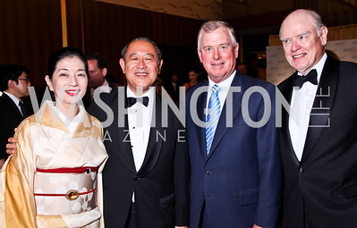 Ichiro Fujisaki and Japan Amb. Ichiro Fujisaki, Former VP Dan Quayle, Former Sec. of the Treasury John Snow. 2012 Points of Light Tribute Awards. Photo by Tony Powell. The Residence of the Ambassador of Japan. September 7, 2012