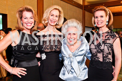 Teresa Carlson, Honoree Bonnie McElveen Hunter, Madeline McElveen, Tweed McElveen-Bogache. 2012 Points of Light Tribute Awards. Photo by Tony Powell. The Residence of the Ambassador of Japan. September 7, 2012