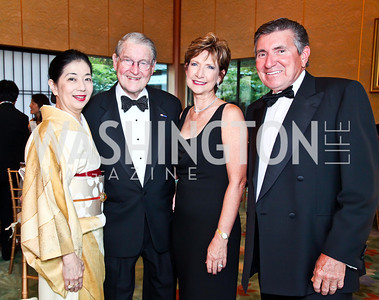 Yoriko Fujisaki, William Webster, Sandra Ganzi and The Palm owner Wally Ganzi. 2012 Points of Light Tribute Awards. Photo by Tony Powell. The Residence of the Ambassador of Japan. September 7, 2012