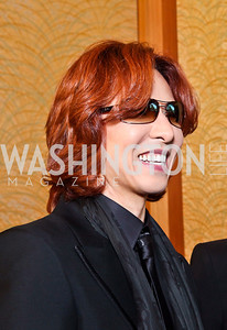 Japanese musician, songwriter and record producer Yoshiki. 2012 Points of Light Tribute Awards. Photo by Tony Powell. The Residence of the Ambassador of Japan. September 7, 2012
