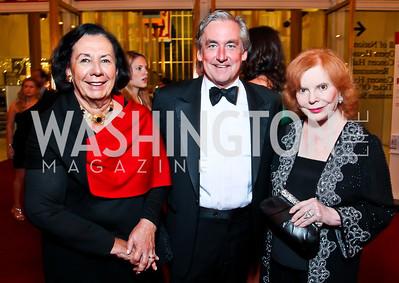 "Ann Jordan, Robert Higdon, Buffy Cafritz. Photo by Tony Powell. 2012 Susan G. Komen ""Honoring the Promise"" Gala. Kennedy Center. September 28, 2012"