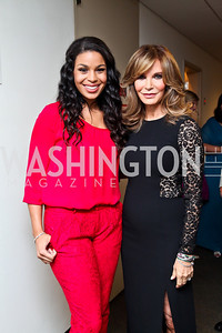 "Jordin Sparks, Jaclyn Smith. Photo by Tony Powell. 2012 Susan G. Komen ""Honoring the Promise"" Gala. Kennedy Center. September 28, 2012"