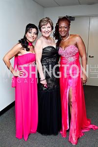 "Survivors Sonia Briseno, Marian Sparks, Alantheia Pena. Photo by Tony Powell. 2012 Susan G. Komen ""Honoring the Promise"" Gala. Kennedy Center. September 28, 2012"