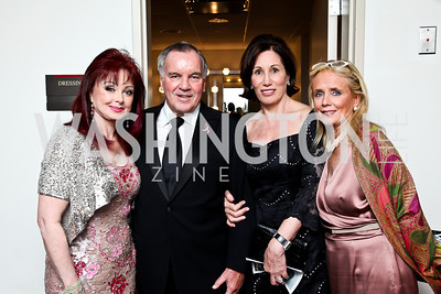 """Naomi Judd, The Honorable Richard Daley, Catherine Reynolds, Debbie Dingell. Photo by Tony Powell. 2012 Susan G. Komen """"Honoring the Promise"""" Gala. Kennedy Center. September 28, 2012"""
