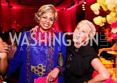 "Alexine Jackson, Carolyn Peachey. Photo by Tony Powell. 2012 Susan G. Komen ""Honoring the Promise"" Gala. Kennedy Center. September 28, 2012"