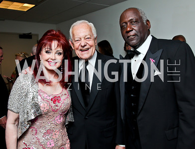 "Naomi Judd, Bob Schieffer, Richard Roundtree. Photo by Tony Powell. 2012 Susan G. Komen ""Honoring the Promise"" Gala. Kennedy Center. September 28, 2012"