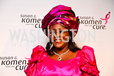 "Dr. Christine Kaseba, first lady of the Republic of Zambia. Photo by Tony Powell. 2012 Susan G. Komen ""Honoring the Promise"" Gala. Kennedy Center. September 28, 2012"