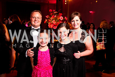 "Scott, Abbie, Maddie, and Marnie Komen. Photo by Tony Powell. 2012 Susan G. Komen ""Honoring the Promise"" Gala. Kennedy Center. September 28, 2012"