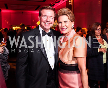 "FedEx CEO David Bronczek, Nancy Brinker. Photo by Tony Powell. 2012 Susan G. Komen ""Honoring the Promise"" Gala. Kennedy Center. September 28, 2012"