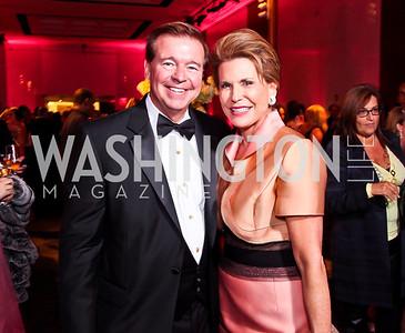 "FedEx CEO David Bronczek, Nancy Brinker. Photo by Tony Powell. 2012 Susan G. Komen ""Honoring the Promise"" Gala. Kennedy Center. September 28, 2012"