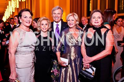 "Grace Bender, Wilma and Stuart Bernstein, Maggie Shannon, JoAnn Morisi. Photo by Tony Powell. 2012 Susan G. Komen ""Honoring the Promise"" Gala. Kennedy Center. September 28, 2012"