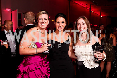 "Erica Crocker, Ana Ellis, Heather Tully. Photo by Tony Powell. 2012 Susan G. Komen ""Honoring the Promise"" Gala. Kennedy Center. September 28, 2012"