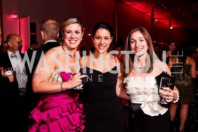 "Erica Crocker, Ana Ellis, Heather Tully. Photo by Tony Powell. 2012 Susan G. Komen ""Honoring the Promise"" Gala. Kennedy Center. September 28, 2012"