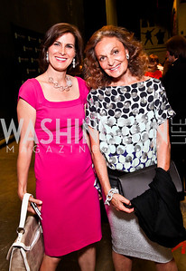 Claire Shipman, Diane von Furstenberg. 2012 Vital Voices Global Leadership Awards. Photo by Tony Powell. Kennedy Center. June 6, 2012