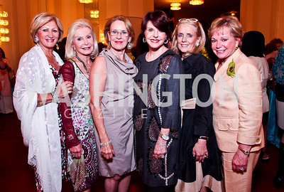 Maggie Shannon, Dianne Kay, Marcia Carlucci, Marlene Malek, Debbie Dingell, Pat Norton. 2012 Vital Voices Global Leadership Awards. Photo by Tony Powell. Kennedy Center. June 6, 2012