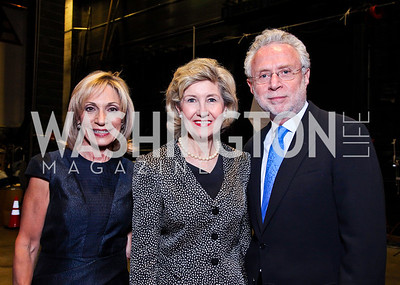 Andrea Mitchell, Sen. Kay Bailey Hutchison, Wolf Blitzer. 2012 Vital Voices Global Leadership Awards. Photo by Tony Powell. Kennedy Center. June 6, 2012