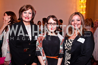 Global Trailblazer Award recipients Salwa Bugaighis, Amira Yahyaoui, and Marianne Ibrahim. 2012 Vital Voices Global Leadership Awards. Photo by Tony Powell. Kennedy Center. June 6, 2012