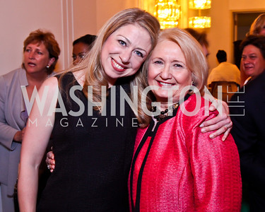 Chelsea Clinton, Melanne Verveer. 2012 Vital Voices Global Leadership Awards. Photo by Tony Powell. Kennedy Center. June 6, 2012