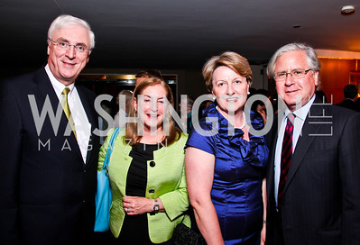 Ireland Amb. Michael Collins, Amy Nathan, Marie Collins, Howard Fineman. 2012 Vital Voices Global Leadership Awards. Photo by Tony Powell. Kennedy Center. June 6, 2012