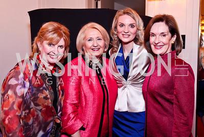 Mary Daley, Melanne Verveer, Alyce Nelson, Donna McLarty. 2012 Vital Voices Global Leadership Awards. Photo by Tony Powell. Kennedy Center. June 6, 2012