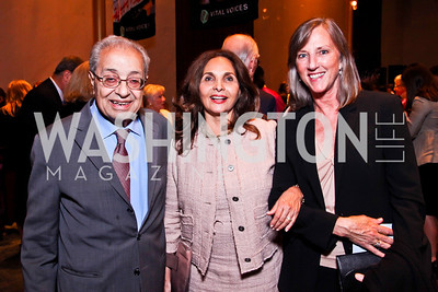 Clovis Maksoud, Samia Farouki, Susan White. 2012 Vital Voices Global Leadership Awards. Photo by Tony Powell. Kennedy Center. June 6, 2012