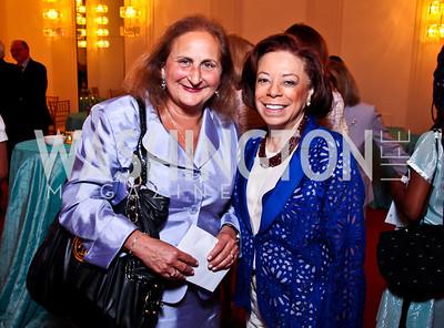 Beth Mendelson, Frances Hardin. 2012 Vital Voices Global Leadership Awards. Photo by Tony Powell. Kennedy Center. June 6, 2012