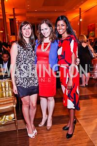 Rebecca White, Carmiel Arbit, Shilpa Nadhan. 2012 Vital Voices Global Leadership Awards. Photo by Tony Powell. Kennedy Center. June 6, 2012