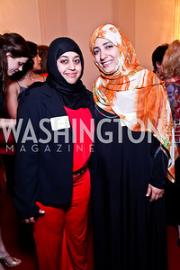 Shatha Al-Harazi, 2011 Nobel Peace Prize recipient Tawakkol Kamran. 2012 Vital Voices Global Leadership Awards. Photo by Tony Powell. Kennedy Center. June 6, 2012