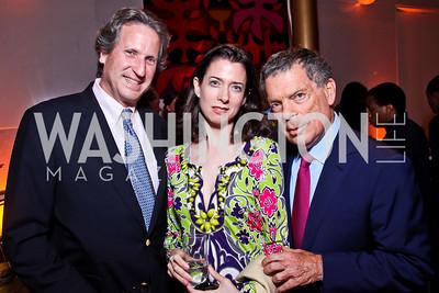 David Cluett, Margaux Bergen, Conrad Cafritz. 2012 Vital Voices Global Leadership Awards. Photo by Tony Powell. Kennedy Center. June 6, 2012
