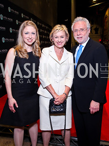 Chelsea Clinton, Tina Brown, Wolf Blitzer. 2012 Vital Voices Global Leadership Awards. Photo by Tony Powell. Kennedy Center. June 6, 2012
