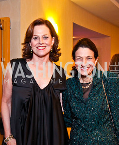Sigourney Weaver, Sen. Olympia Snowe. White House Correspondents Dinner Pre-parties. Photo by Tony Powell. Hilton Hotel. April 28, 2012