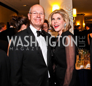 Harry Smith, Christine Baranski. White House Correspondents Dinner Pre-parties. Photo by Tony Powell. Hilton Hotel. April 28, 2012