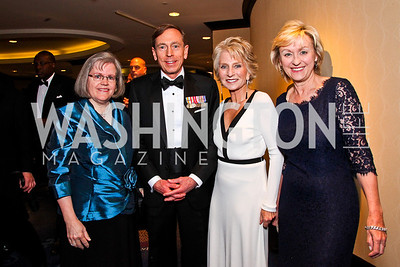 Holly and Gen. David Petraeus, Jane Harman, Tina Brown. White House Correspondents Dinner Pre-parties. Photo by Tony Powell. Hilton Hotel. April 28, 2012