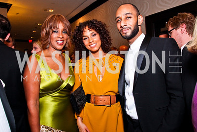 Gayle King, Alicia Keys and Swizz Beatz. White House Correspondents Dinner Pre-parties. Photo by Tony Powell. Hilton Hotel. April 28, 2012