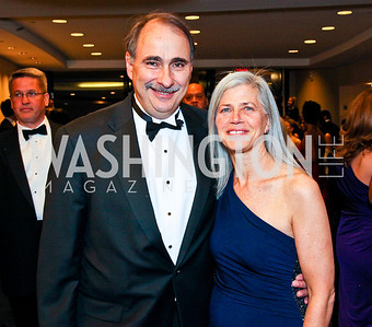 David and Susan Axelrod. White House Correspondents Dinner Pre-parties. Photo by Tony Powell. Hilton Hotel. April 28, 2012