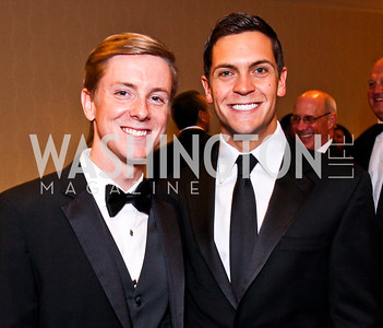 Facebook co-founder Chris Hughes and Sean Eldridge. White House Correspondents Dinner Pre-parties. Photo by Tony Powell. Hilton Hotel. April 28, 2012