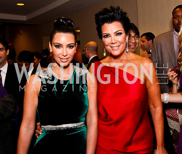 Kim Kardashian and Kris Jenner. White House Correspondents Dinner Pre-parties. Photo by Tony Powell. Hilton Hotel. April 28, 2012