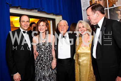 Marcus W. Brauchli, Lally Weymouth, Ben Bradlee and Sally Quinn, Donald Graham. White House Correspondents Dinner Pre-parties. Photo by Tony Powell. Hilton Hotel. April 28, 2012