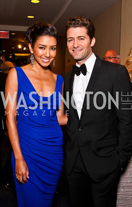 Renee Puente, Matthew Morrison. White House Correspondents Dinner Pre-parties. Photo by Tony Powell. Hilton Hotel. April 28, 2012