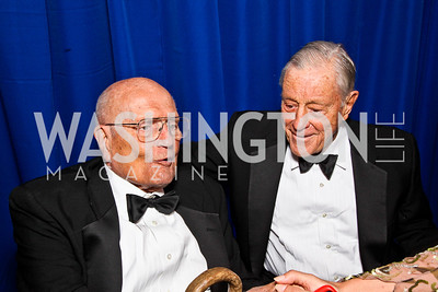 Rep. John Dingell, Ben Bradlee. White House Correspondents Dinner Pre-parties. Photo by Tony Powell. Hilton Hotel. April 28, 2012