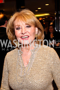 Barbara Walters. White House Correspondents Dinner Pre-parties. Photo by Tony Powell. Hilton Hotel. April 28, 2012
