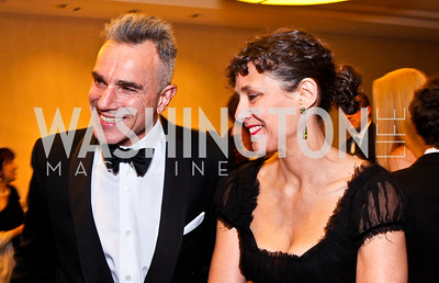 Daniel Day Lewis and Rebecca Miller. White House Correspondents Dinner Pre-parties. Photo by Tony Powell. Hilton Hotel. April 28, 2012