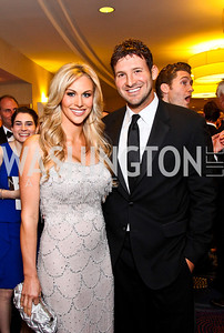 Candice Crawford and Tony Romo. White House Correspondents Dinner Pre-parties. Photo by Tony Powell. Hilton Hotel. April 28, 2012