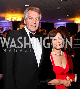 British Amb. Peter Westmacott and Susie Nemazee. White House Correspondents Dinner Pre-parties. Photo by Tony Powell. Hilton Hotel. April 28, 2012