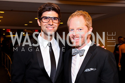 Justin Mikita, Jesse Tyler Ferguson. White House Correspondents Dinner Pre-parties. Photo by Tony Powell. Hilton Hotel. April 28, 2012