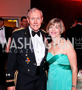 Chairman of the Joint Chiefs of Staff Gen. Martin Dempsey and Deanie Dempsey. White House Correspondents Dinner Pre-parties. Photo by Tony Powell. Hilton Hotel. April 28, 2012
