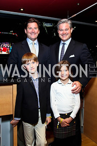 Joe Ruzzo and Mark Lowham with their children Alexander and Elizabeth. Photo by Tony Powell. Washington International Horse Show. Verizon Center. October 27, 2012
